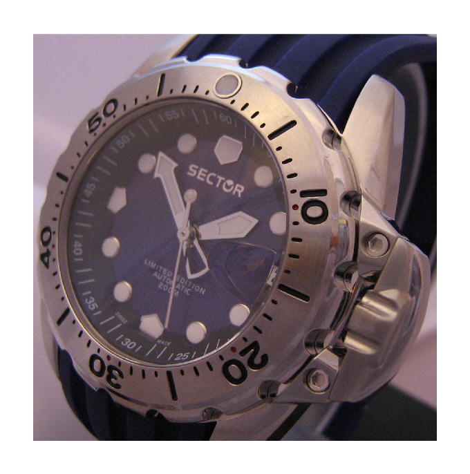 Sector 600 Limited Edtion Automatic Divers Watch, Blue Dial With Rubber Strap