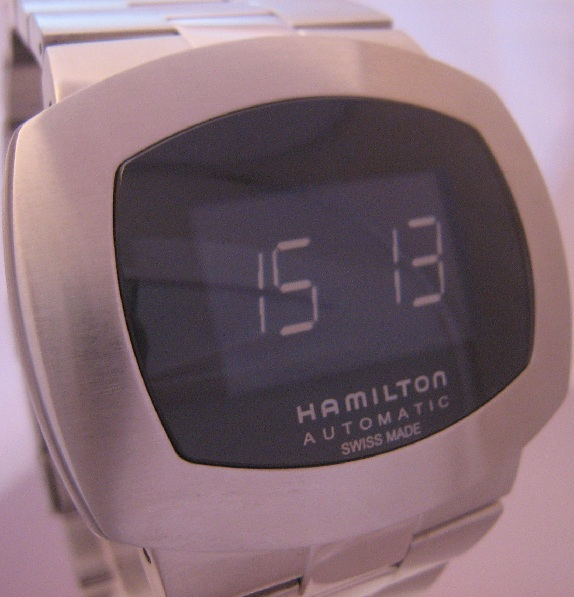 Hamilton Pulsomatic, Black Dial With Steel Bracelet