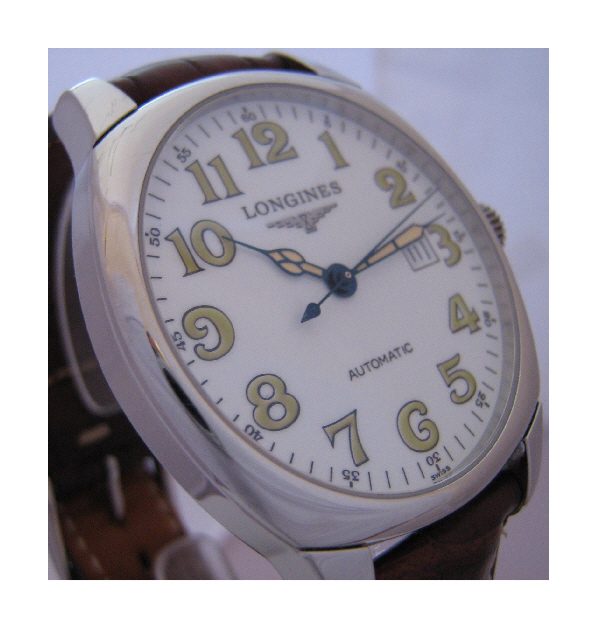 Longines Spirit Automatic, White Dial With Leather Strap