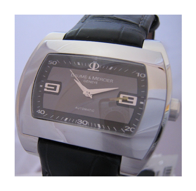 Baume & Mercier Hampton City Automatic, Grey Dial With Leather Strap