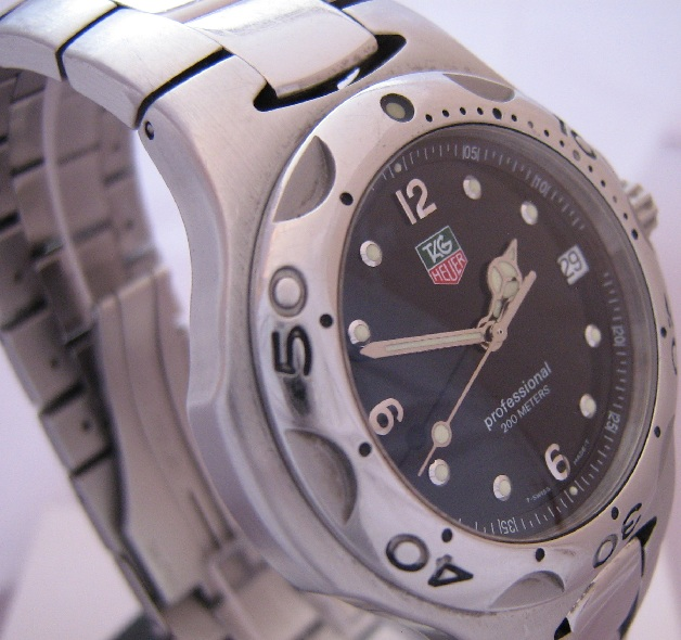 Tag Heuer Kirium, Black Dial With Stainless Steel Bracelet