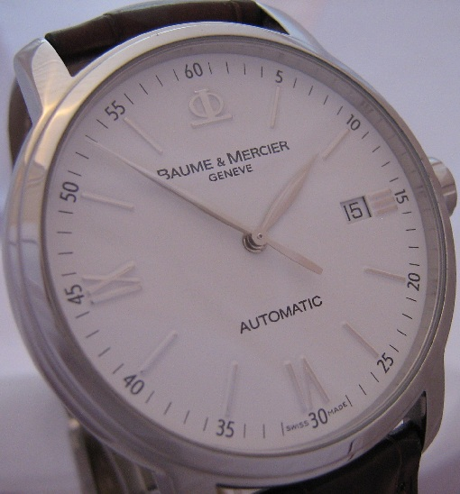 Baume & Mercier Classima Automatic, White Dial, Leather Strap